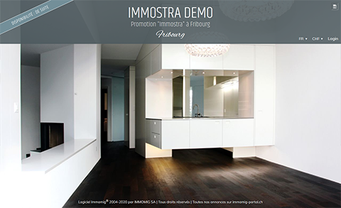 Mini-site Immostra